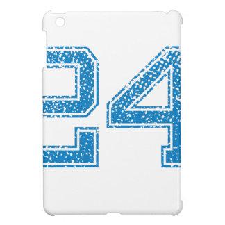 Blue Sports Jerzee Number 24 iPad Mini Covers