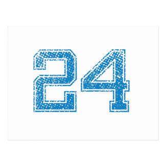 Blue Sports Jerzee Number 24 Postcard