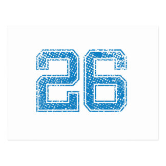 Blue Sports Jerzee Number 26 Postcard