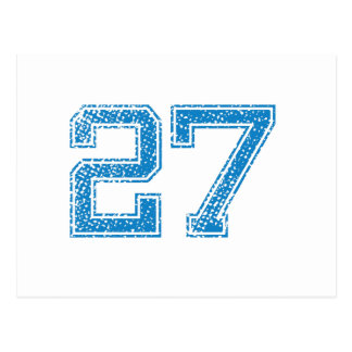 Blue Sports Jerzee Number 27 Postcard