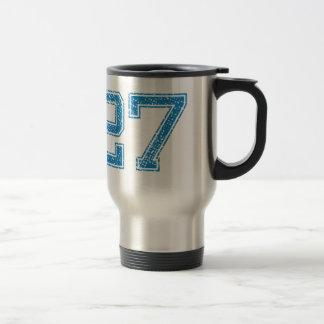 Blue Sports Jerzee Number 27 Travel Mug