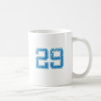 Blue Sports Jerzee Number 29 Coffee Mug