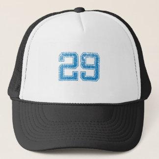 Blue Sports Jerzee Number 29 Trucker Hat