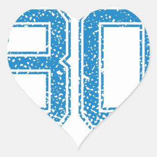 Blue Sports Jerzee Number 30 Heart Sticker