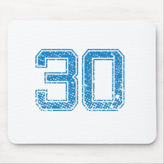 Blue Sports Jerzee Number 30 Mouse Pad