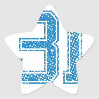 Blue Sports Jerzee Number 31 Star Sticker
