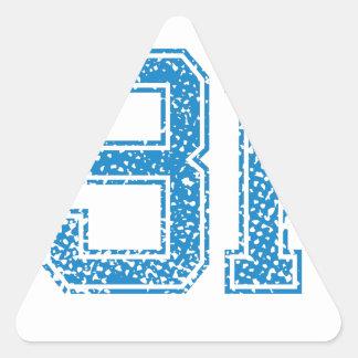 Blue Sports Jerzee Number 31 Triangle Sticker