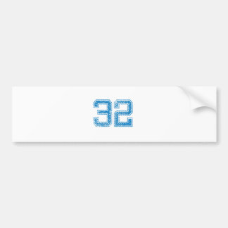 Blue Sports Jerzee Number 32 Bumper Sticker