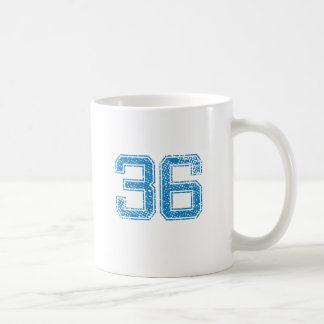 Blue Sports Jerzee Number 36 Coffee Mug