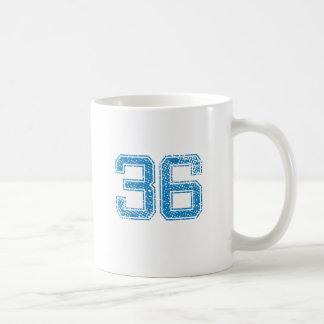 Blue Sports Jerzee Number 36 Coffee Mug