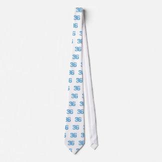 Blue Sports Jerzee Number 36 Neck Tie