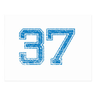 Blue Sports Jerzee Number 37 Postcard