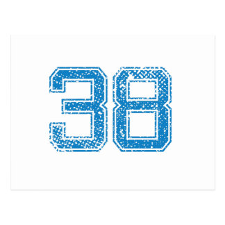 Blue Sports Jerzee Number 38 Postcard