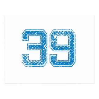 Blue Sports Jerzee Number 39 Postcard
