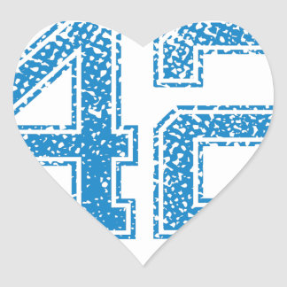 Blue Sports Jerzee Number 42 Heart Sticker