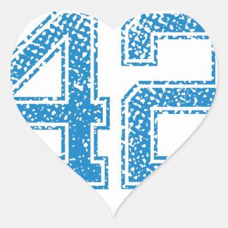 Blue Sports Jerzee Number 42 Heart Sticker