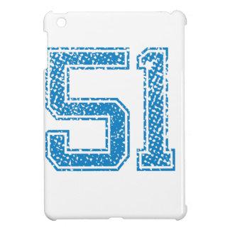Blue Sports Jerzee Number 51 iPad Mini Cases
