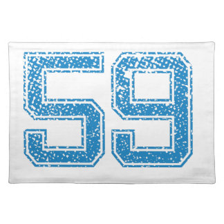 Blue Sports Jerzee Number 59.png Cloth Placemat