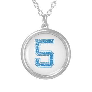 Blue Sports Jerzee Number 5 Pendant