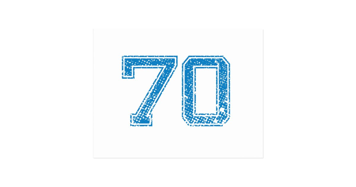Blue Sports Jerzee Number 70 Postcard
