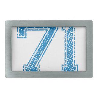 Blue Sports Jerzee Number 71 Belt Buckle