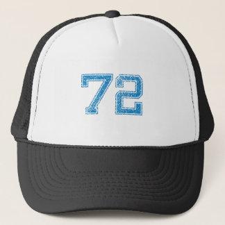 Blue Sports Jerzee Number 72 Trucker Hat