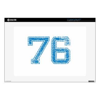 Blue Sports Jerzee Number 76 Laptop Skins