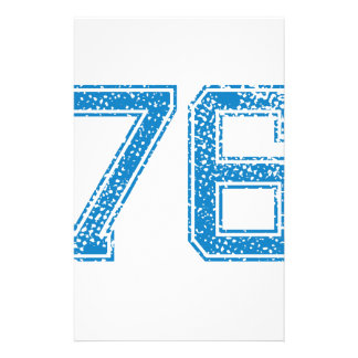 Blue Sports Jerzee Number 76 Custom Stationery