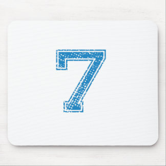 Blue Sports Jerzee Number 7 Mouse Pad