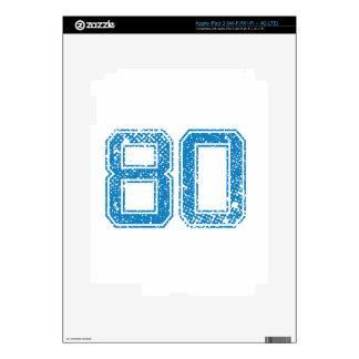 Blue Sports Jerzee Number 80 iPad 3 Decal
