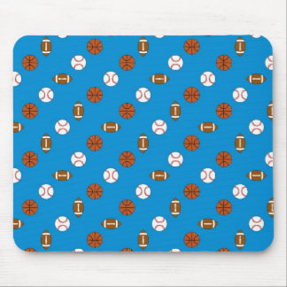 Blue Sports Mouse Pad