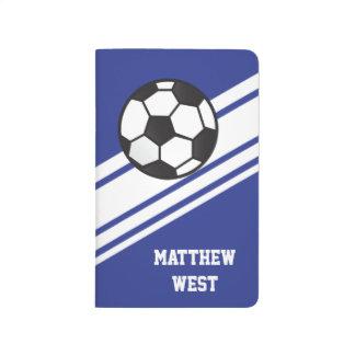 Blue Sporty Stripes Personalized Soccer Journal