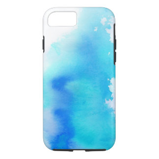 Blue spot, watercolor abstract hand painted iPhone 7 case