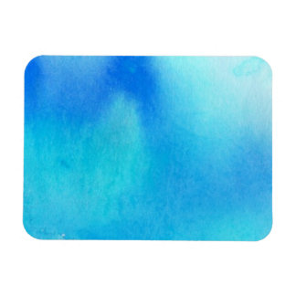 Blue spot, watercolor abstract hand painted magnet