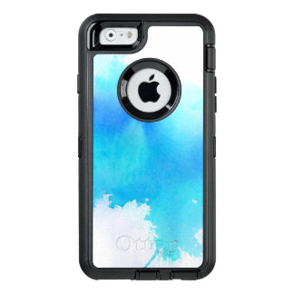 Blue spot, watercolor abstract hand painted OtterBox iPhone 6/6s case