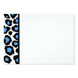 Blue Spotted Leopard Panel Invitation