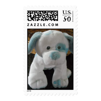 Blue Spotted Pup Postage