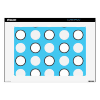 Blue spotted tie decal for laptop