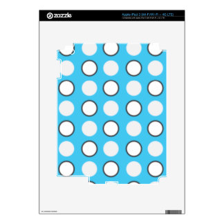 Blue spotted tie iPad 3 skin
