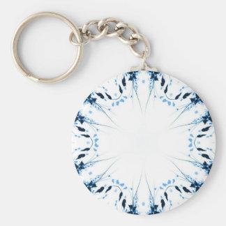 Blue Sprawl Flowers Keychain