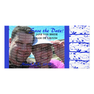 Blue Spring Blossoms Save The Date Card