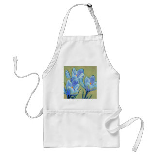 Blue Spring Crocus Adult Apron