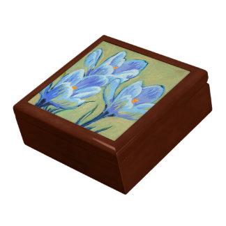 Blue Spring Crocus Keepsake Box