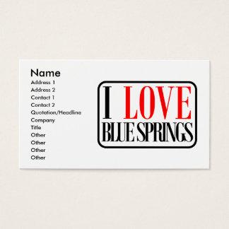 Blue Springs, Alabama City Design Business Card