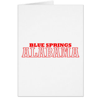 Blue Springs, Alabama City Design Card