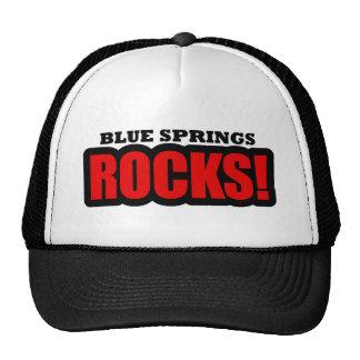 Blue Springs, Alabama City Design Trucker Hat