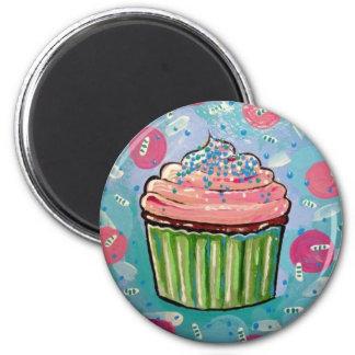 Blue Sprinkles cupcake MAGNET