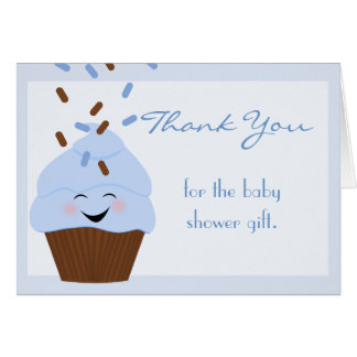 Blue Sprinkles Thank You Card