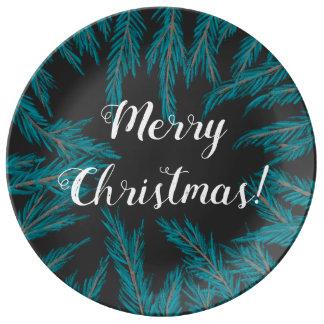 Blue Spruce Decorative Porcelain Plate