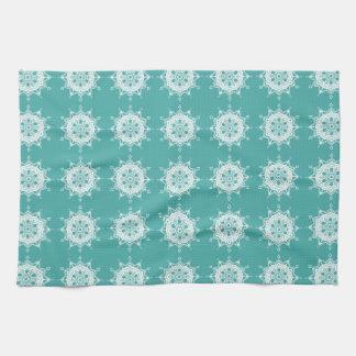 Blue Spruce Mandala Hand Towel